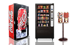 new vending machines, snack soda machines, compact vending combos