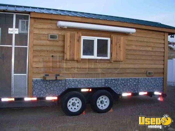 Southern Yankee Bar-B-Q Log Cabin Concession Trailer - MOTIVATED SELLER!!!