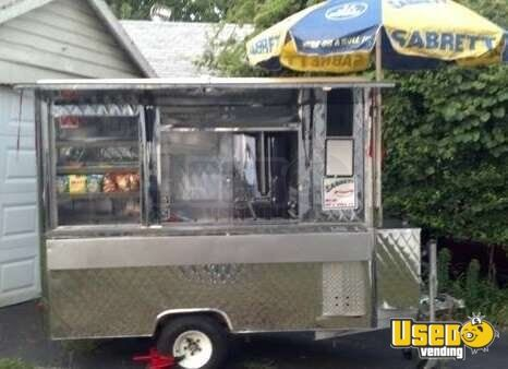 Stainless Steel Hot Dog Concession Trailer Small