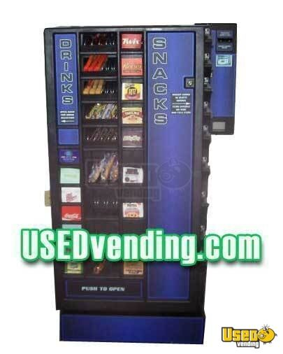1 - 2005 Planet Antares Refreshment Center Snack and Soda Combination Vending Machine with Dollar Bill Changer!