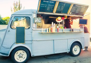 food truck business selling drinks and sandwiches