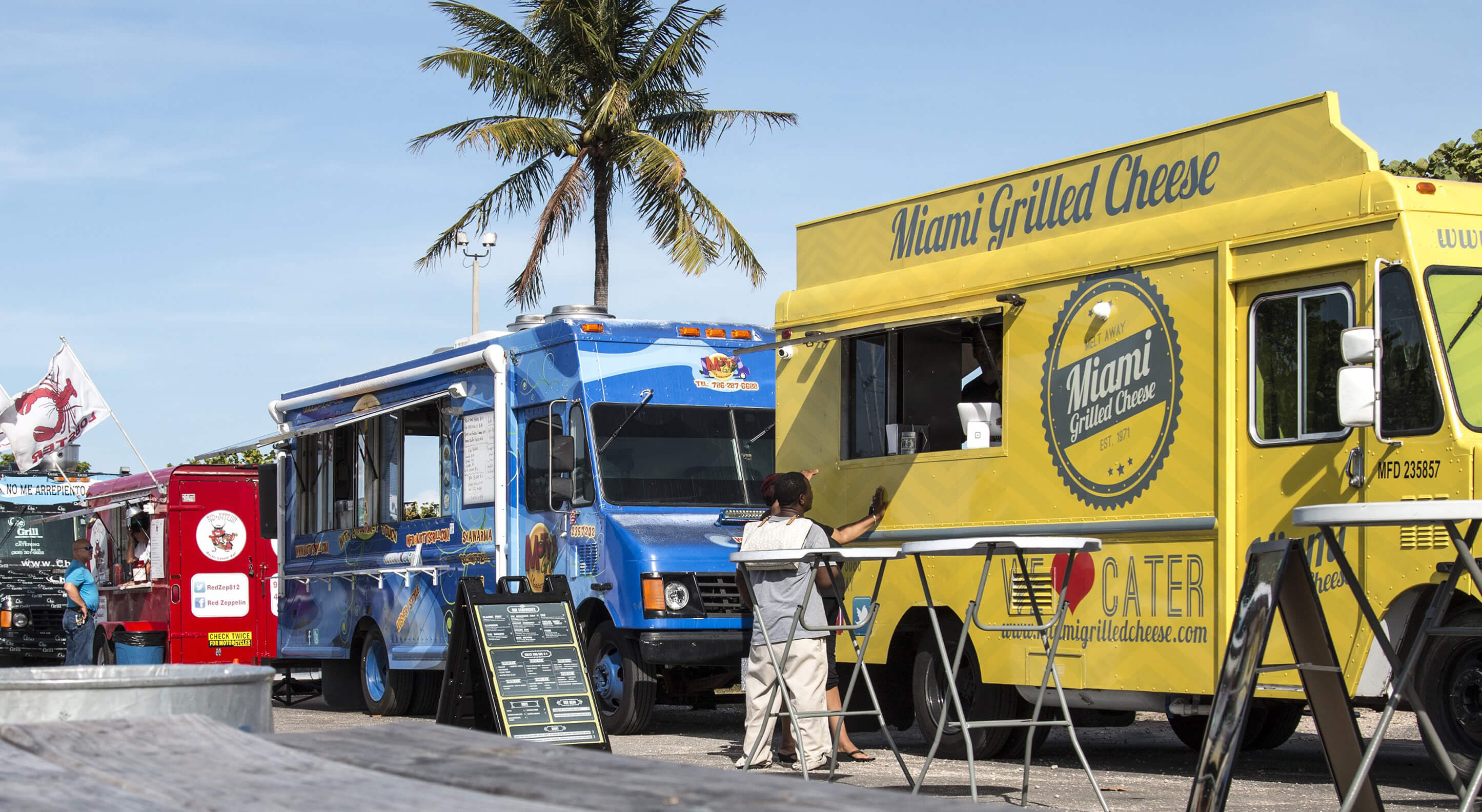 food trucks at a local fast food event in Florida