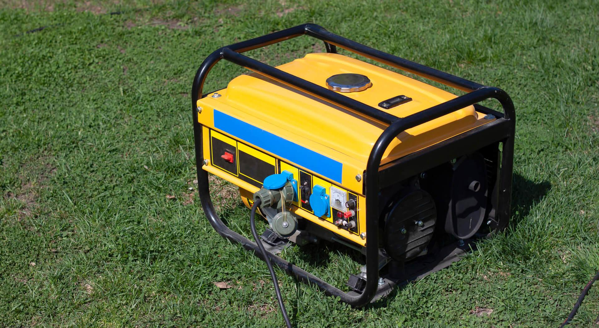 yellow portable food truck generator