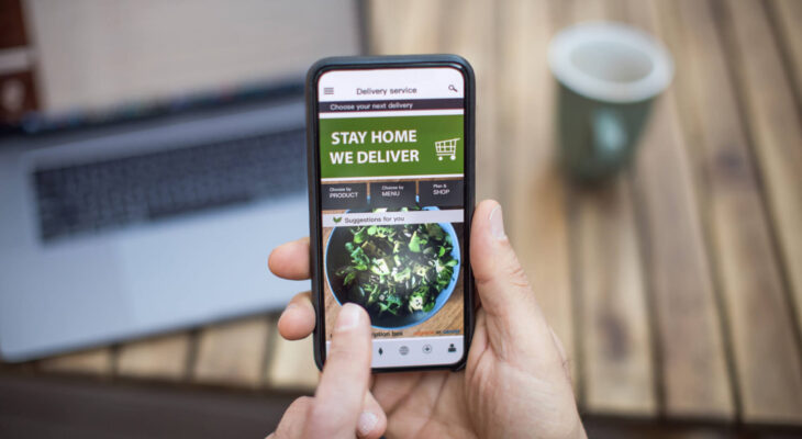 ordering online using an online food delivery app