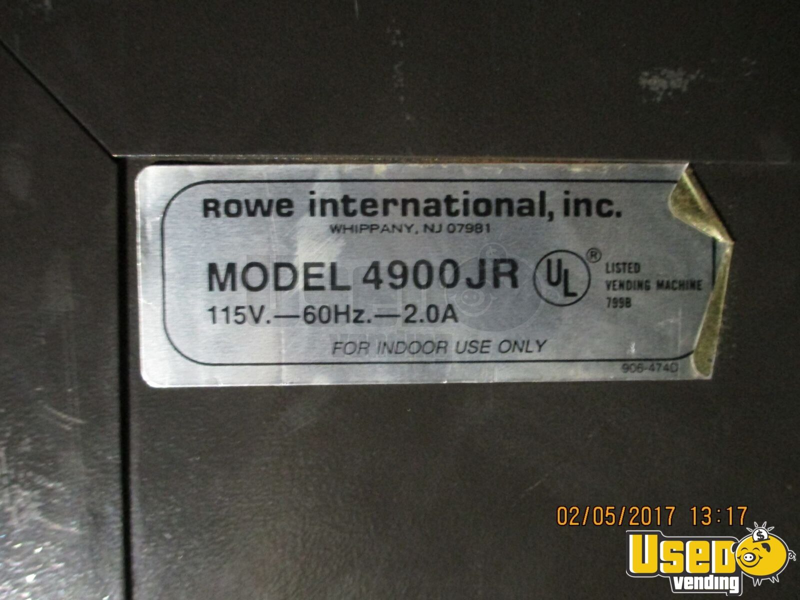 1900 Rowe 4900jr Other Snack Vending Machine 3 Arizona for Sale - 3