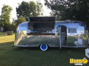 1955 Flying Cloud Whale Tail Beverage Concession Trailer Beverage - Coffee Trailer Stainless Steel Wall Covers Oklahoma for Sale