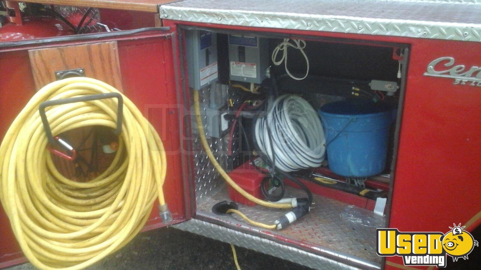 Vintage Fire Engine Food Truck Mobile Kitchen For Sale