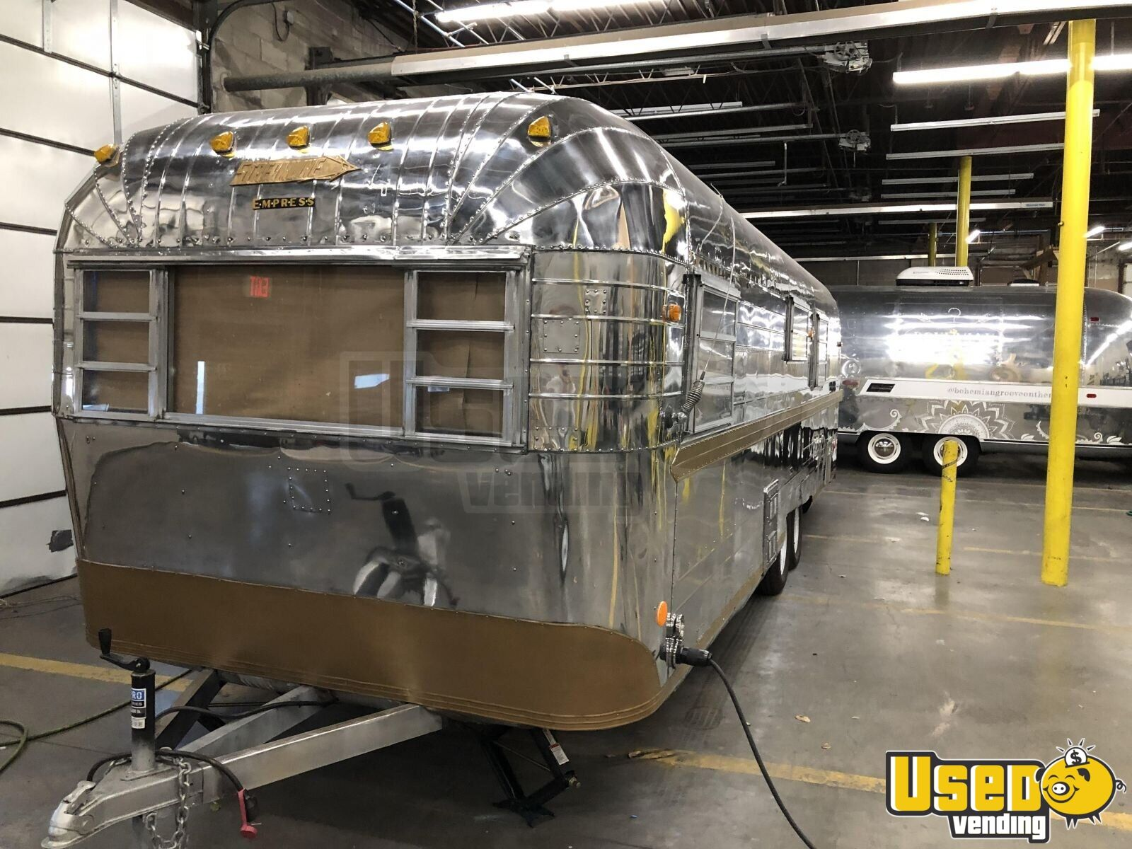 1968 Streamline Empress Mobile Boutique Trailer Shore Power Cord Texas for Sale - 6
