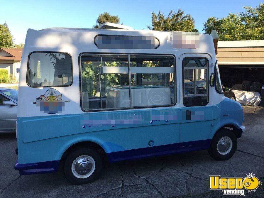 vintage 1976 bedford ice cream truck used food truck for sale in california. Black Bedroom Furniture Sets. Home Design Ideas