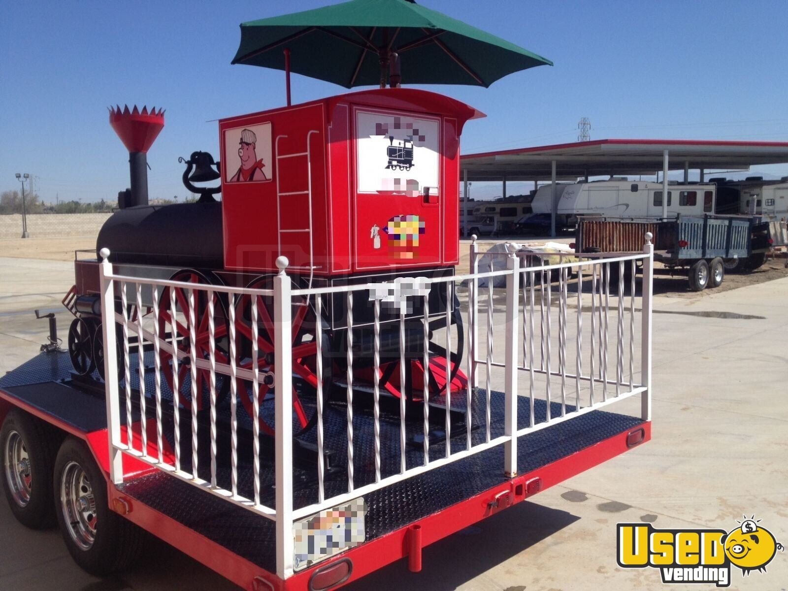 1986 Custom Built Open Bbq Smoker Trailer Bbq Smoker California for Sale - 2