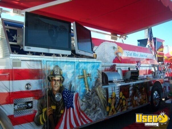 1986 Hahn Ladder Tiller Barbecue Food Truck Gray Water Tank Arizona Diesel Engine for Sale - 18