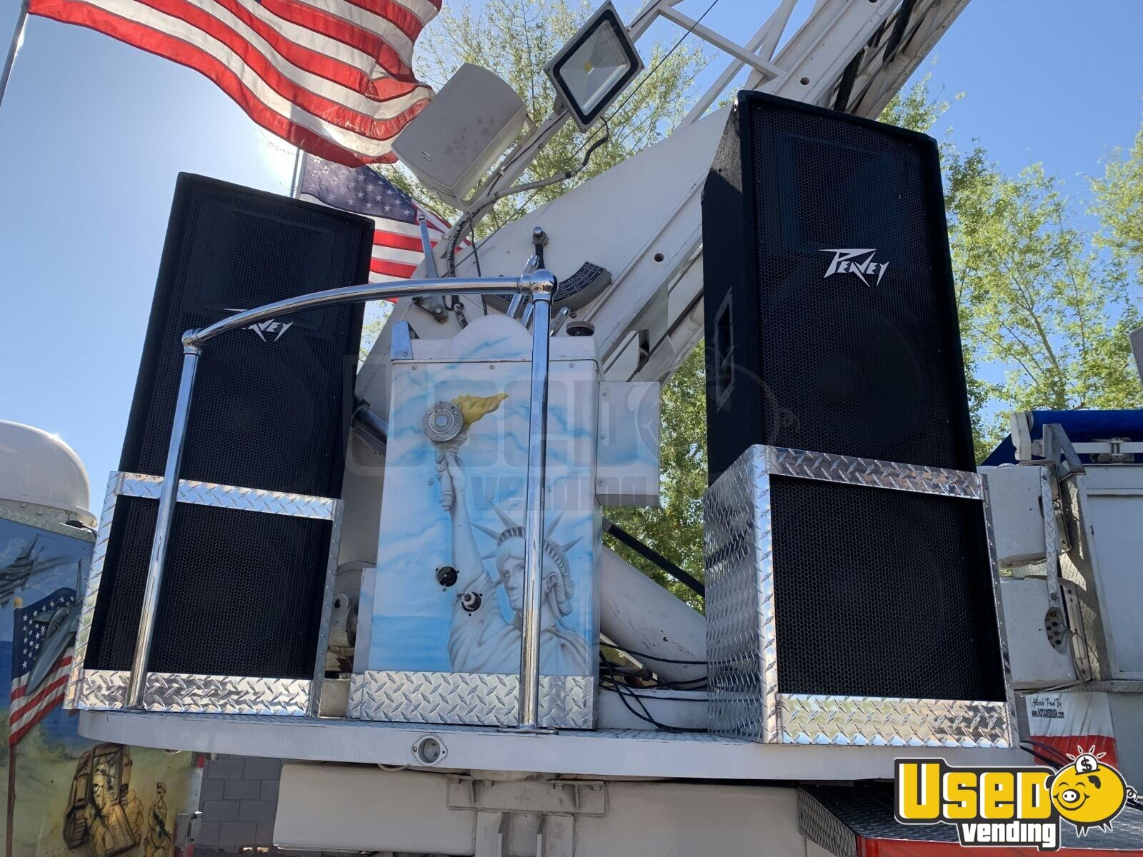 1986 Hahn Ladder Tiller Barbecue Food Truck Soda Fountain System Arizona Diesel Engine for Sale - 9