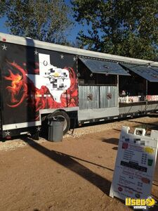 1987 Barbecue Food Truck Barbecue Food Truck Awning Texas Diesel Engine for Sale