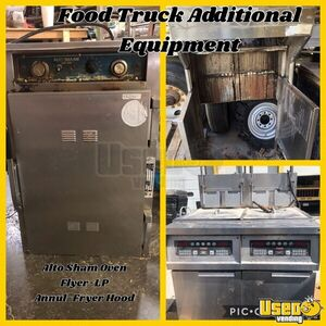1987 Step Van Kitchen Food Truck With Trailer All-purpose Food Truck Stainless Steel Wall Covers Iowa for Sale