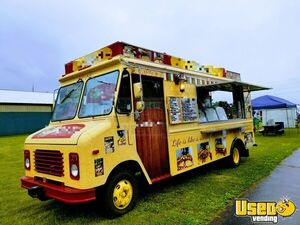 1990 Gmcbox Truck All-purpose Food Truck Refrigerator Pennsylvania Diesel Engine for Sale