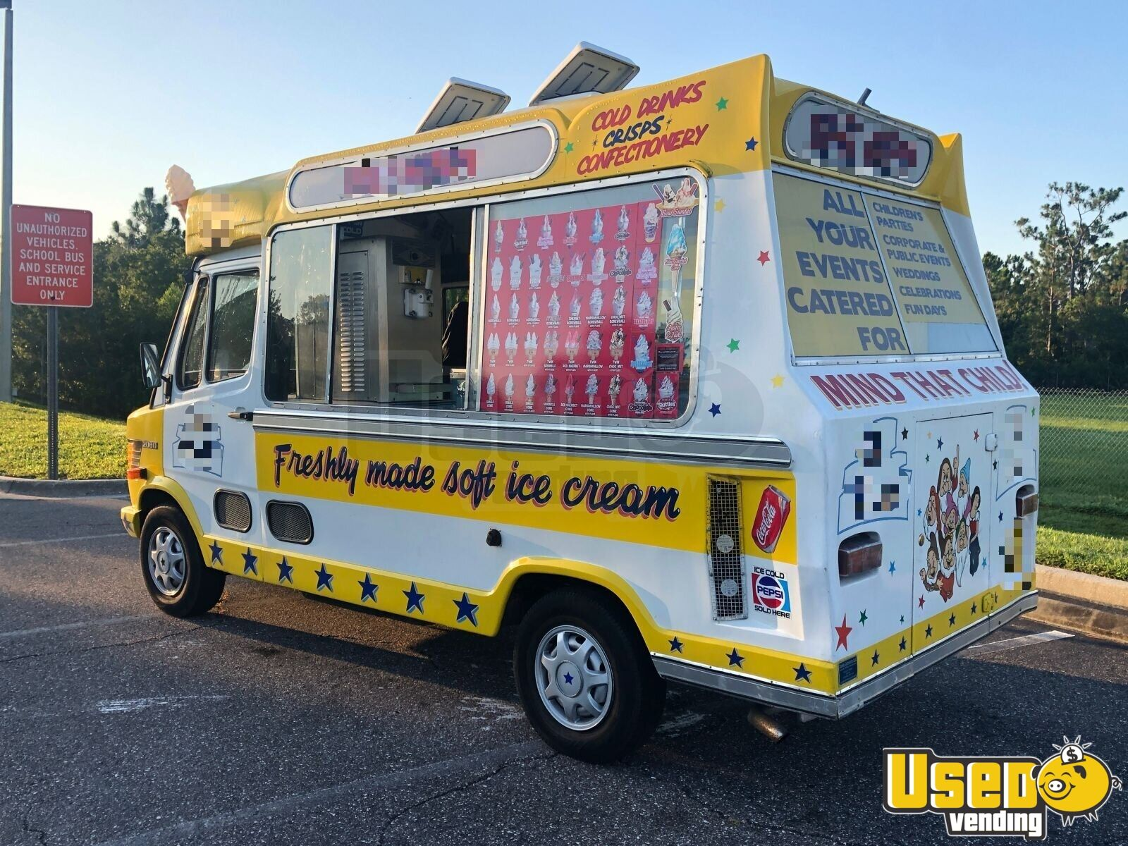 1990 Mercedes 208d Ice Cream Truck Concession Window Florida Diesel Engine for Sale - 2