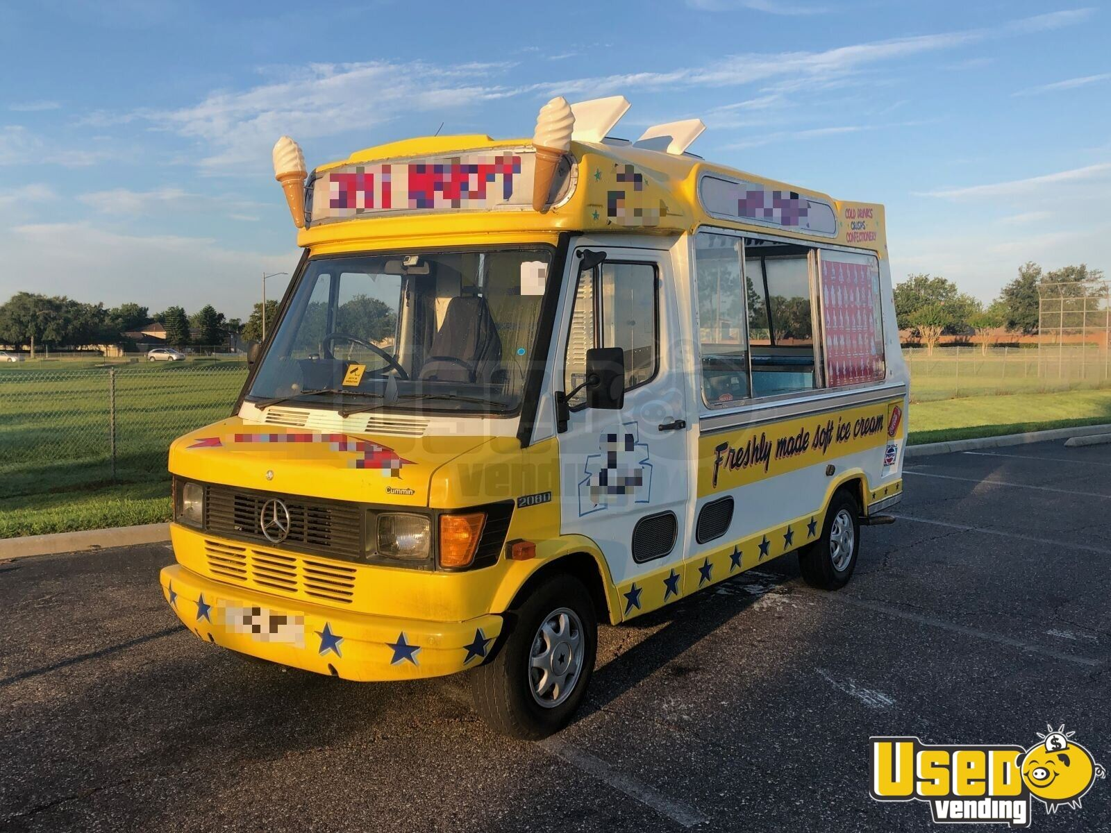 1990 Mercedes 208d Ice Cream Truck Deep Freezer Florida Diesel Engine for Sale - 3