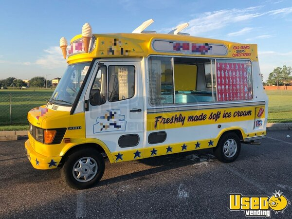 1990 Mercedes 208d Ice Cream Truck Florida Diesel Engine for Sale