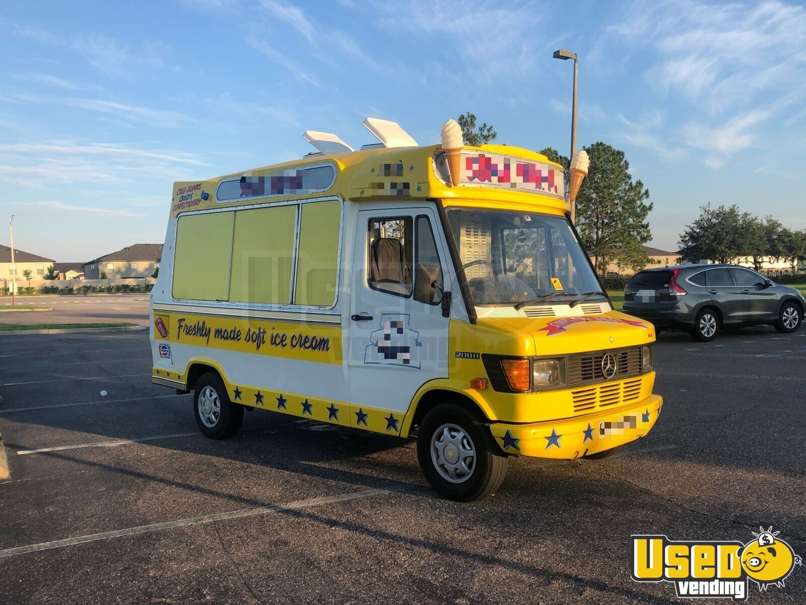 1990 Mercedes 208d Ice Cream Truck Reach-in Upright Cooler Florida Diesel Engine for Sale - 4