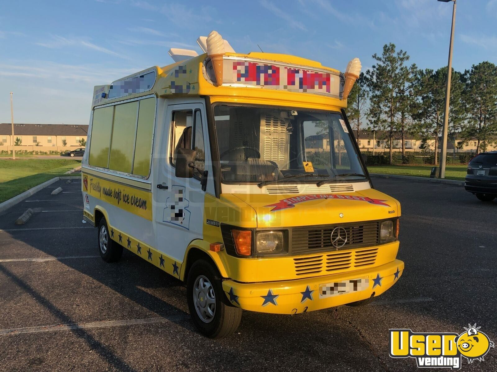 1990 Mercedes 208d Ice Cream Truck Refrigerator Florida Diesel Engine for Sale - 5