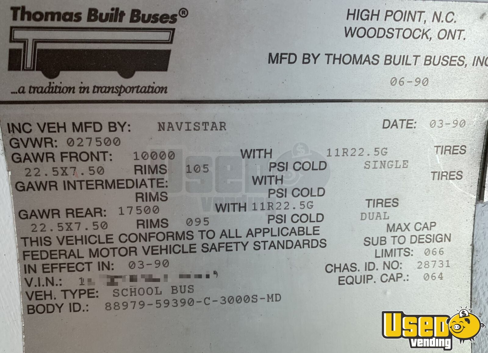 1990 Thomas Mobile Boutique Truck 17 Kentucky Diesel Engine for Sale - 17
