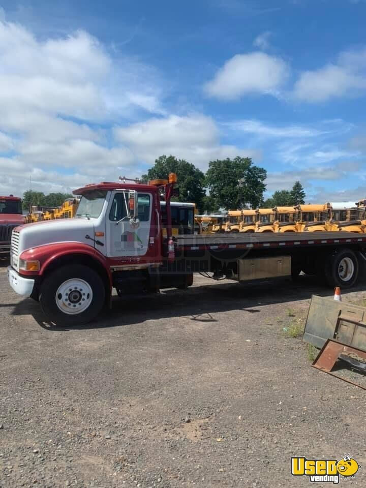 1991 International 4400 2 Car Flatbed Tow Truck Maxxforce Dt466 For Sale In Connecticut