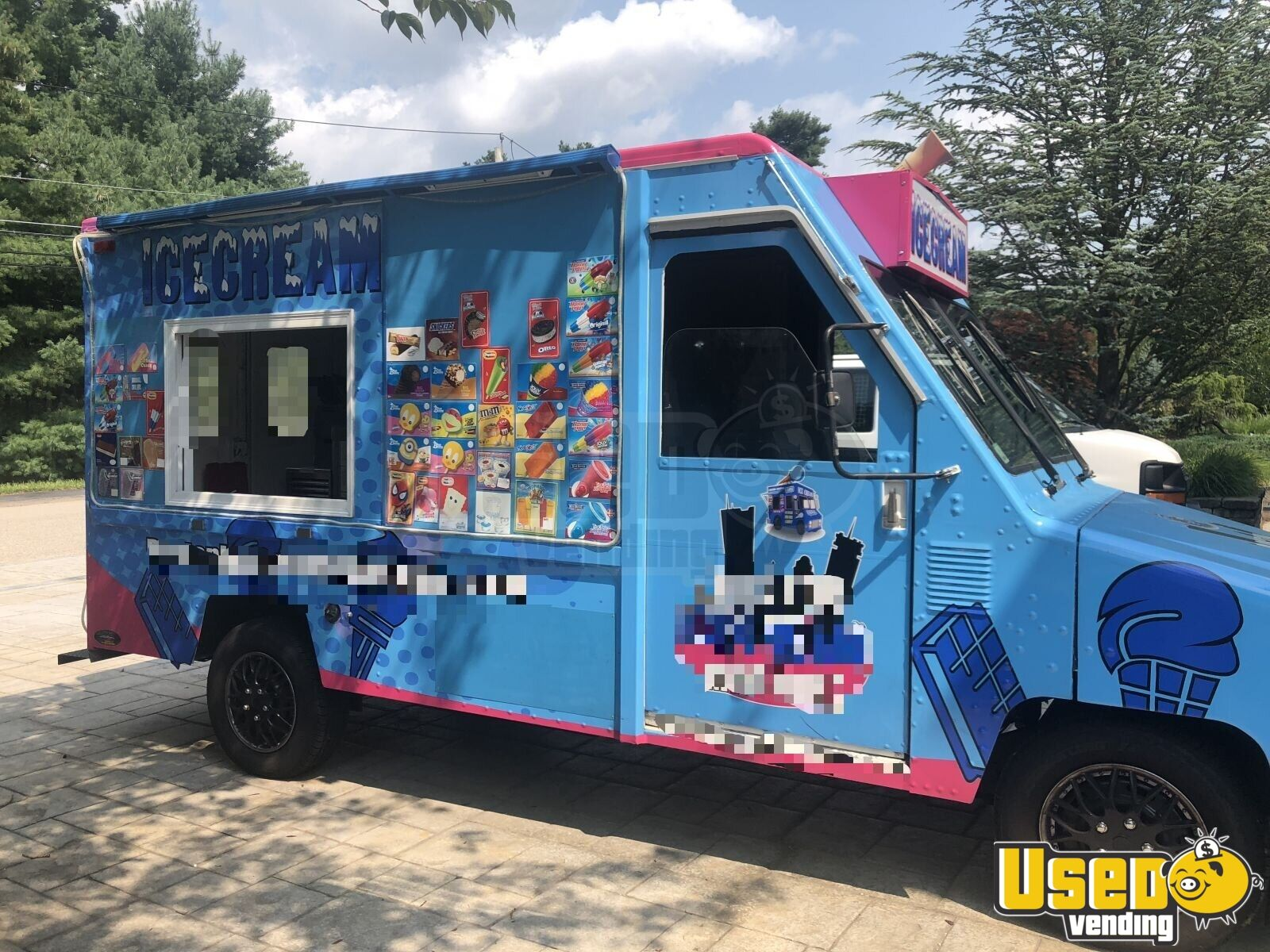 1992 Umc Ice Cream Truck Concession Window Massachusetts Gas Engine for Sale - 2