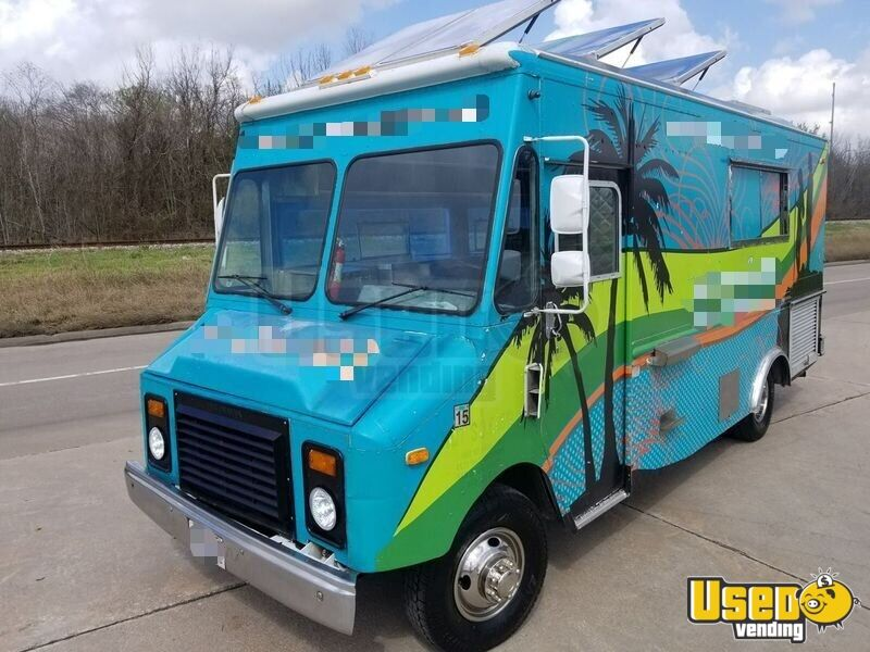 1994 Chevy Step Van P30 Food Truck Stainless Steel Wall Covers Texas Gas Engine for Sale - 4