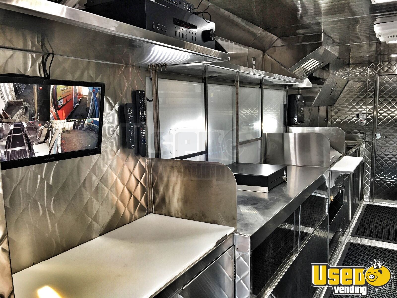 1995 Chevrolet Barbecue Food Truck Concession Window California Diesel Engine for Sale - 3