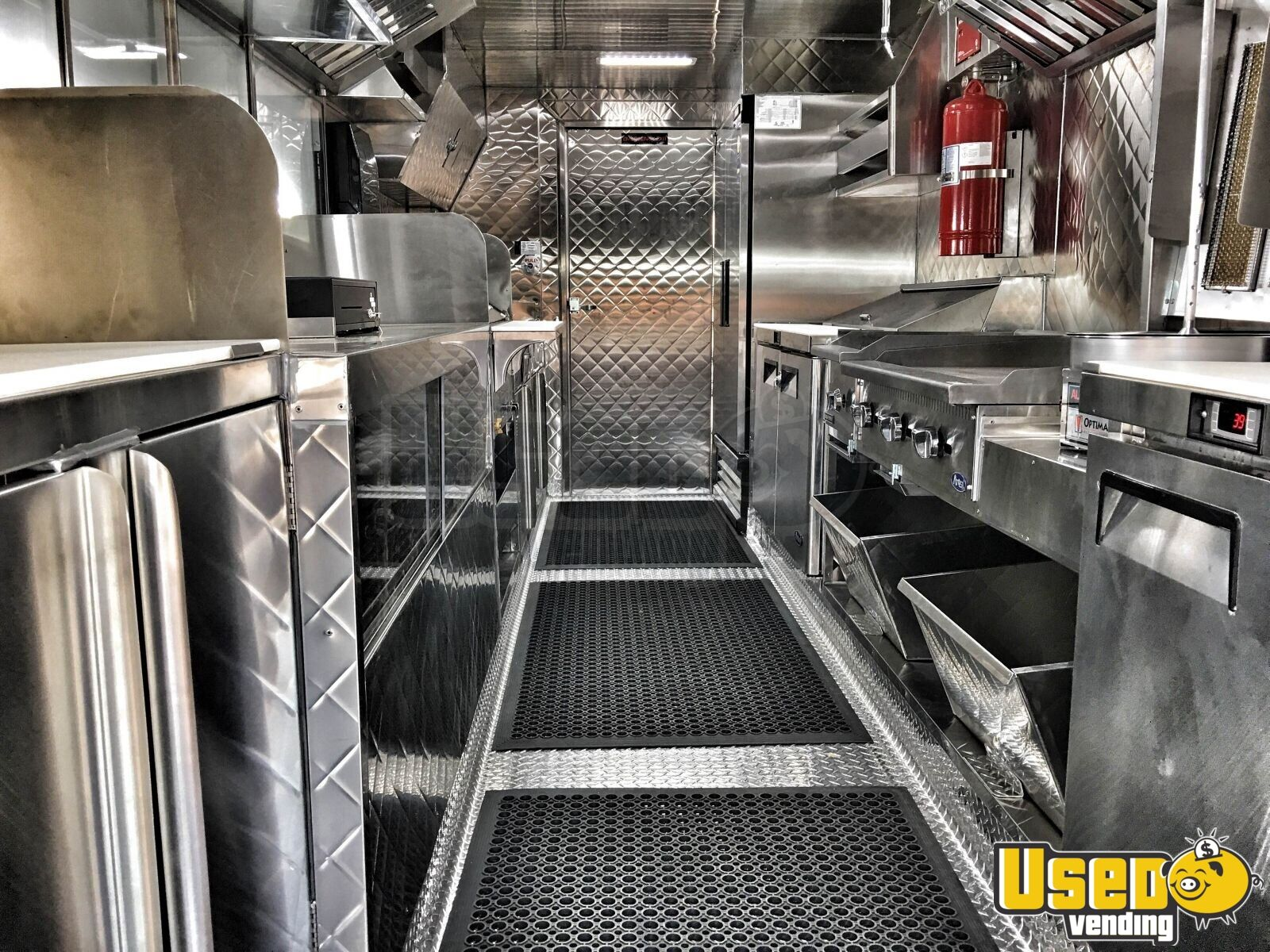 1995 Chevrolet Food Truck Stainless Steel Wall Covers California Diesel Engine for Sale - 5