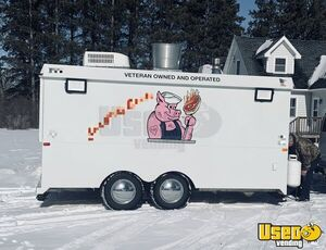 1997 Barbecue Concession Trailer Barbecue Food Trailer Concession Window Minnesota for Sale