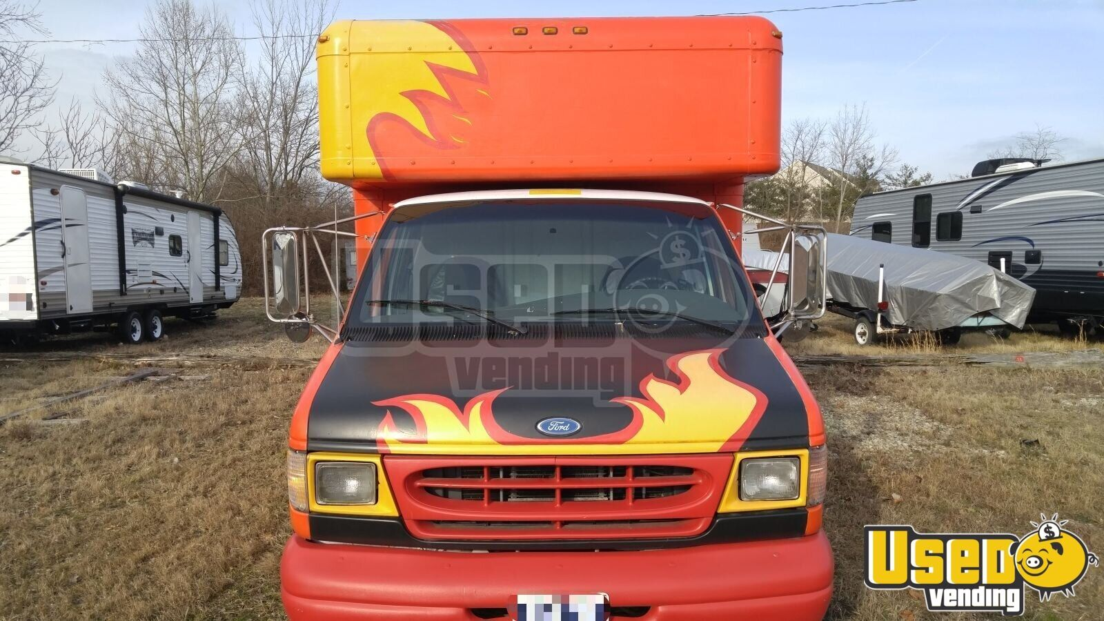 1997 Ford Box Van Food Truck Air Conditioning Ohio Gas Engine for Sale - 2