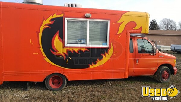1997 Ford Box Van Food Truck Ohio Gas Engine for Sale