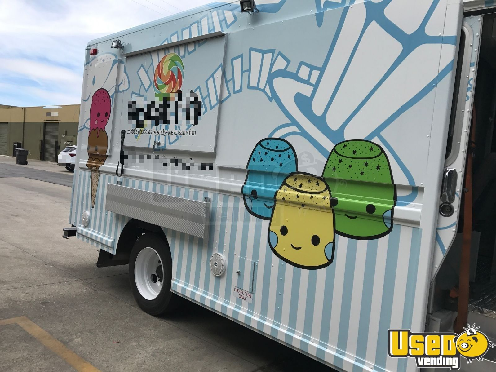 1997 Freightliner Ice Cream Truck Awning California Diesel Engine for Sale - 4