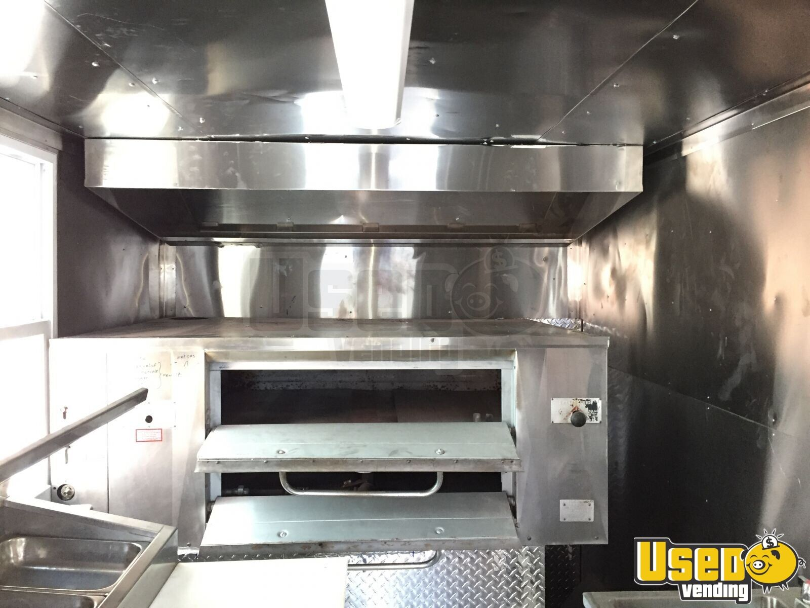 1997 Ultramax Food Truck Stainless Steel Wall Covers Maryland Gas Engine for Sale - 4