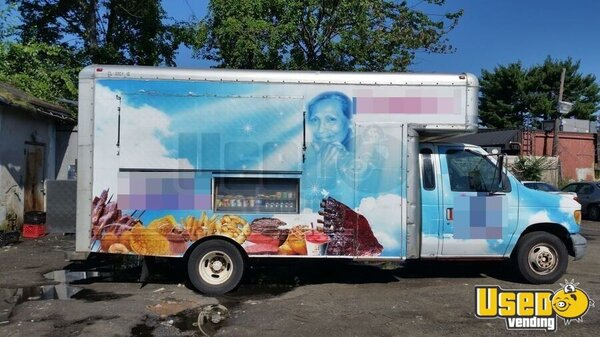 1998 E350 Bbq Food Truck Barbecue Food Truck New Jersey Gas Engine for Sale