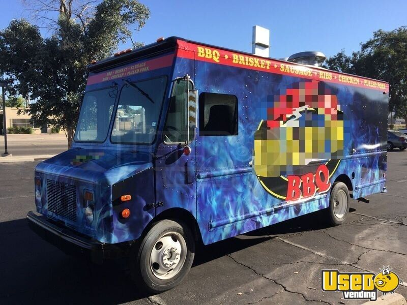 1998 Gmc P3500 Barbecue Food Truck Air Conditioning Arizona Gas Engine for Sale - 2