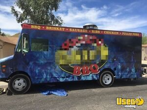 1998 Gmc P3500 Barbecue Food Truck Cabinets Arizona Gas Engine for Sale