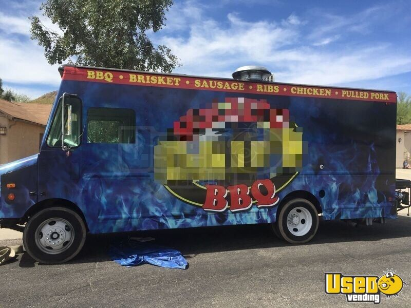 1998 Gmc P3500 Barbecue Food Truck Cabinets Arizona Gas Engine for Sale - 6
