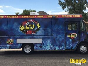 1998 Gmc P3500 Barbecue Food Truck Concession Window Arizona Gas Engine for Sale
