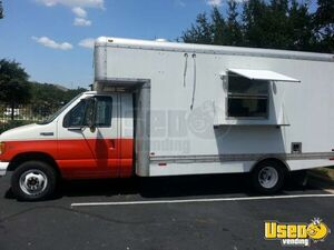 2000 17' E-350 Van Kitchen Food Truck All-purpose Food Truck Texas Gas Engine for Sale