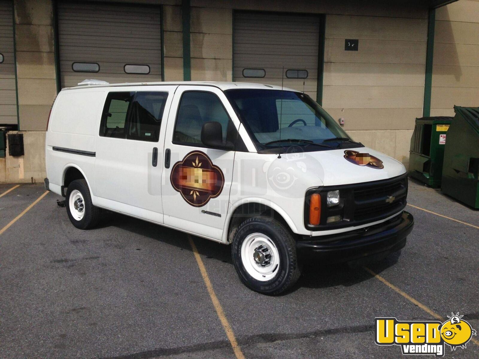 2000 Chevy Express 2500 Coffee Truck Air Conditioning Virginia Gas Engine for Sale - 2