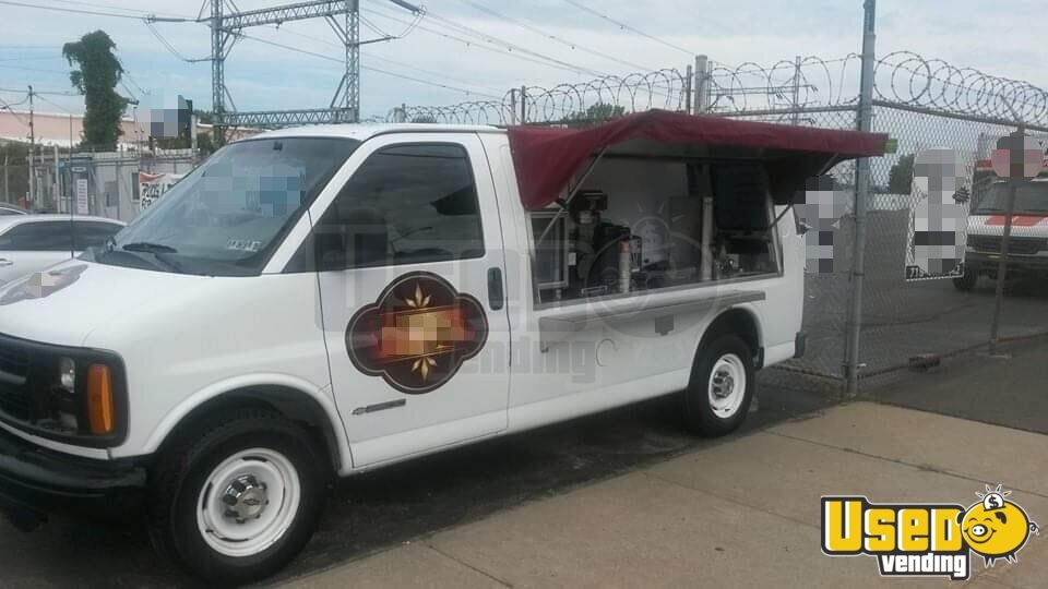 2000 Chevy Express 2500 Coffee Truck Concession Window Virginia Gas Engine for Sale - 3