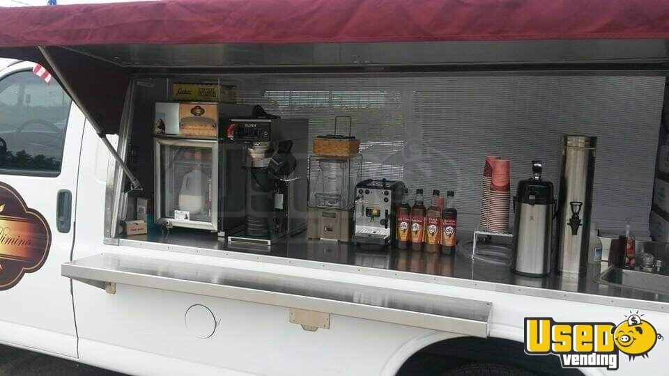 2000 Express 2500 Coffee Truck Coffee & Beverage Truck Awning Virginia Gas Engine for Sale - 5