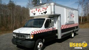2000 Ford E-350 Pizza Food Truck Cabinets Pennsylvania Gas Engine for Sale