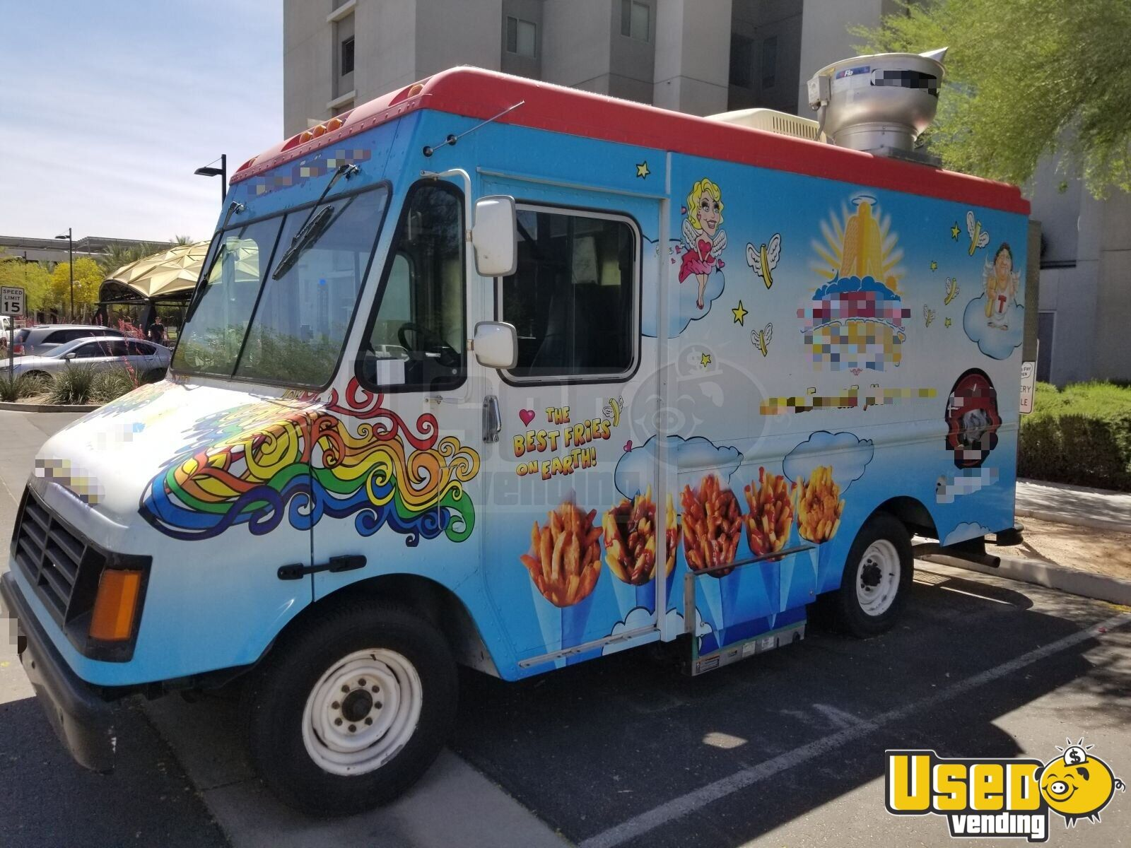 2000 Ford Workhouse Food Truck Concession Window California Gas Engine for Sale - 2