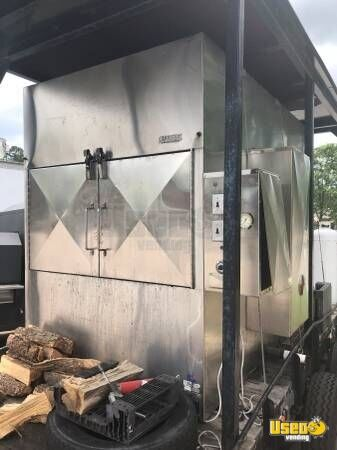 2000 Ole Hickory Pits Open Bbq Smoker Trailer North Carolina for Sale