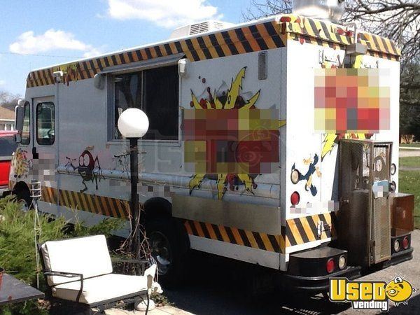 2000 Workhourse P40 Pizza Food Truck Cabinets Indiana Diesel Engine for Sale