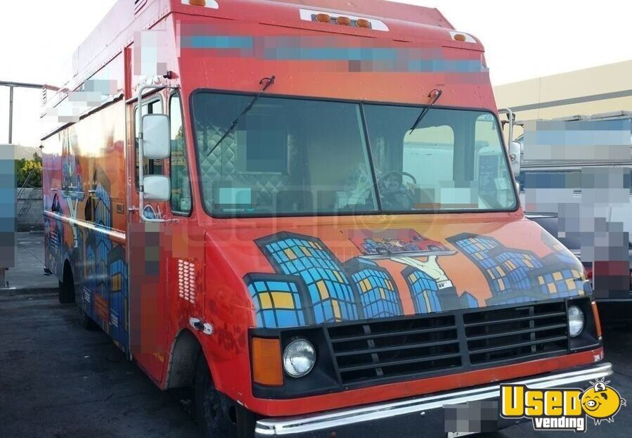 2001 Chevy P30 Food Truck Air Conditioning California Diesel Engine for Sale - 2