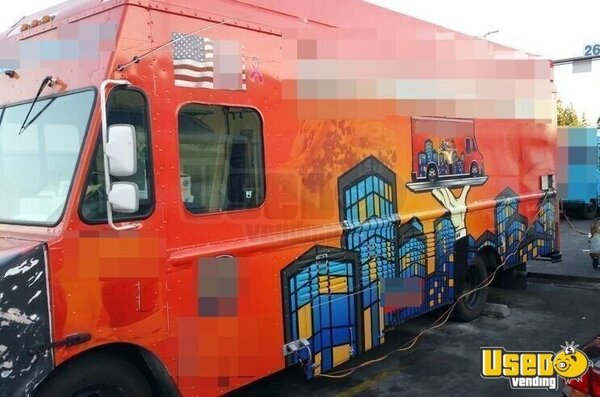 2001 Chevy P30 Food Truck California Diesel Engine for Sale